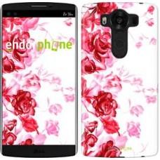 Чехол для LG V10 H962 Нарисованные розы 724u-370