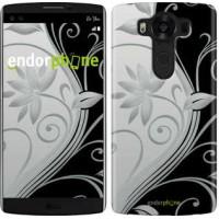 Чехол для LG V10 H962 Цветы на чёрно-белом фоне 840u-370