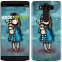Чехол для LG V10 H962 Девочка с зайчиком 915u-370