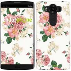 Чехол для LG V10 H962 цветочные обои v1 2293u-370