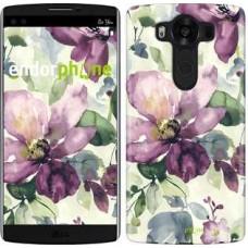 Чехол для LG V10 H962 Цветы акварелью 2237u-370