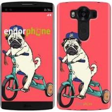Чехол для LG V10 H962 Мопс на велосипеде 3072u-370