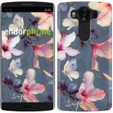 Чехол для LG V10 H962 Нарисованные цветы 2714u-370