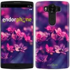 Чехол для LG V10 H962 Пурпурные цветы 2719u-370