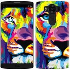 Чехол для LG V10 H962 Разноцветный лев 2713u-370
