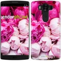 Чехол для LG V10 H962 Розовые пионы 2747u-370