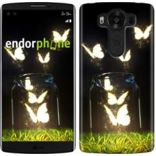 Чехол для LG V10 H962 Светящиеся бабочки 2983u-370