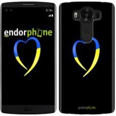Чехол для LG V10 H962 Жёлто-голубое сердце 885u-370
