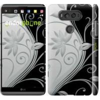 Чехол для LG V20 Цветы на чёрно-белом фоне 840m-787