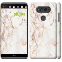 Чехол для LG V20 Белый мрамор 3847m-787