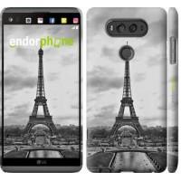Чехол для LG V20 Чёрно-белая Эйфелева башня 842m-787