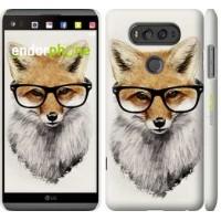Чехол для LG V20 Лис в очках 2707m-787