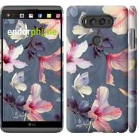 Чехол для LG V20 Нарисованные цветы 2714m-787