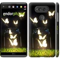 Чехол для LG V20 Светящиеся бабочки 2983m-787
