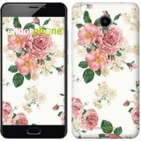 Чехол для Meizu M3e цветочные обои v1 2293u-607