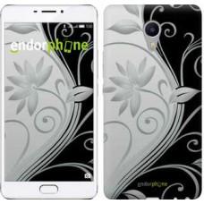 Чехол для Meizu M3 Max Цветы на чёрно-белом фоне 840m-462