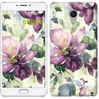 Чехол для Meizu M3 Max Цветы акварелью 2237m-462