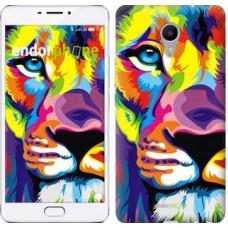 Чехол для Meizu M3 Max Разноцветный лев 2713m-462