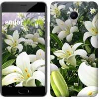 Чехол для Meizu M3s Белые лилии 2686u-943