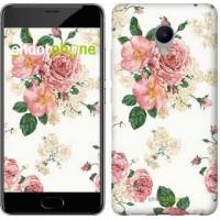 Чехол для Meizu M3s цветочные обои v1 2293u-943