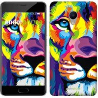 Чехол для Meizu M3s Разноцветный лев 2713u-943