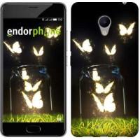 Чехол для Meizu M3s Светящиеся бабочки 2983u-943