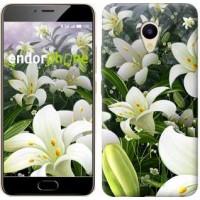 Чехол для Meizu M5 Белые лилии 2686u-420