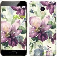 Чехол для Meizu M5 Цветы акварелью 2237u-420