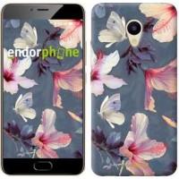 Чехол для Meizu M5 Нарисованные цветы 2714u-420