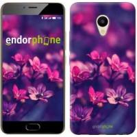Чехол для Meizu M5 Пурпурные цветы 2719u-420