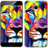 Чехол для Meizu M5 Разноцветный лев 2713u-420