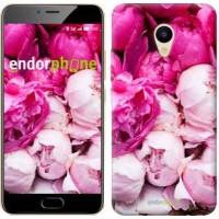 Чехол для Meizu M5 Розовые пионы 2747u-420
