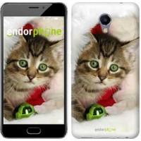Чехол для Meizu M5 Note Новогодний котёнок в шапке 494u-447