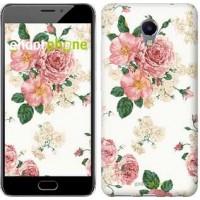 Чехол для Meizu M5 Note цветочные обои v1 2293u-447