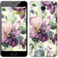 Чехол для Meizu M5 Note Цветы акварелью 2237u-447