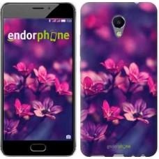 Чехол для Meizu M5 Note Пурпурные цветы 2719u-447