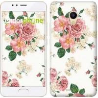 Чехол для Meizu M5s цветочные обои v1 2293u-776