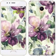 Чехол для Meizu M5s Цветы акварелью 2237u-776