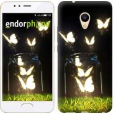 Чехол для Meizu M5s Светящиеся бабочки 2983u-776