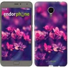 Чехол для Meizu Metal Пурпурные цветы 2719u-507