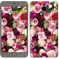 Чехол для Meizu Metal Розы и пионы 2875u-507