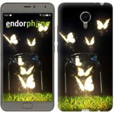 Чехол для Meizu Metal Светящиеся бабочки 2983u-507