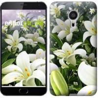 Чехол для Meizu MX5 Белые лилии 2686c-105