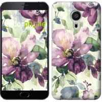 Чехол для Meizu MX5 Цветы акварелью 2237c-105