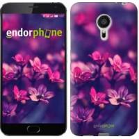 Чехол для Meizu MX5 Пурпурные цветы 2719c-105