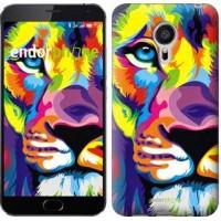 Чехол для Meizu MX5 Разноцветный лев 2713c-105