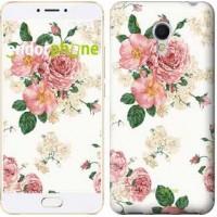 Чехол для Meizu MX6 цветочные обои v1 2293m-259