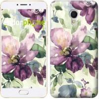 Чехол для Meizu MX6 Цветы акварелью 2237m-259