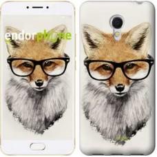 Чехол для Meizu MX6 Лис в очках 2707m-259
