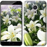 Чехол для Meizu Pro 5 Белые лилии 2686u-108